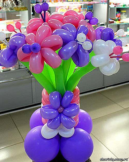 Букет из воздушных шаров - Весенний