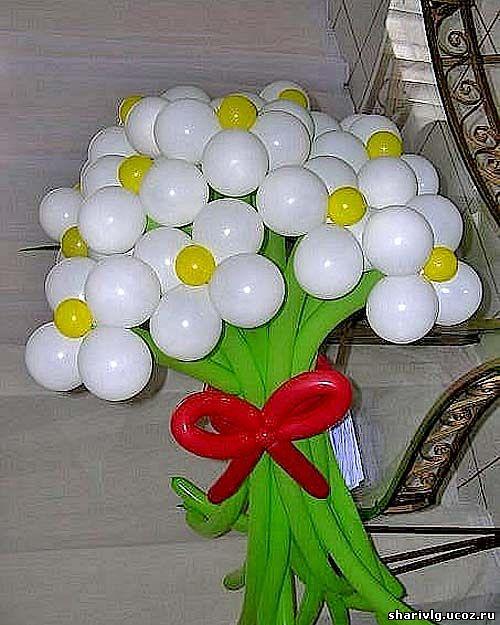 Букет из воздушных шаров - Ромашки