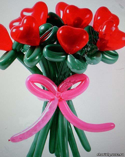 Букет сердечек из воздушных шаров - Для тебя