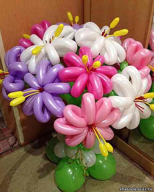 Букет из воздушных шаров - С днём рождения