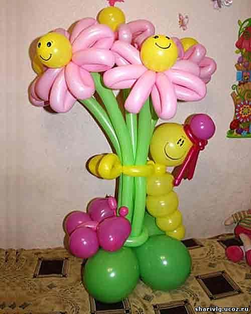 Букет из воздушных шаров - Улыбка