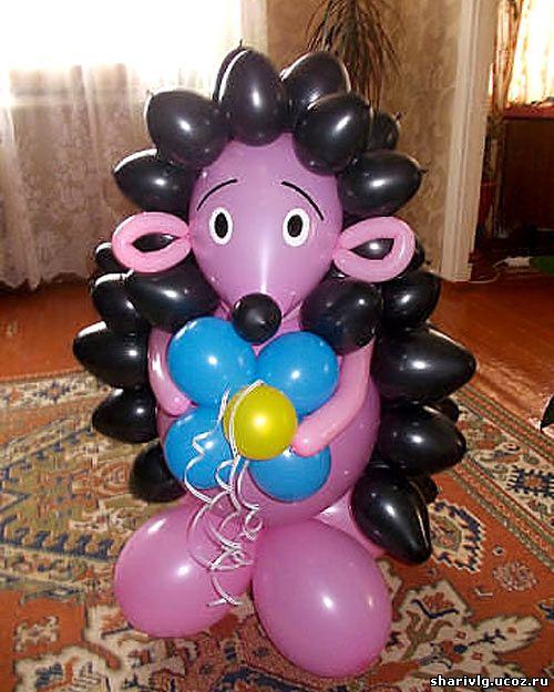 Фигура из воздушных шаров - Ёжик