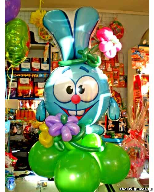 Смешарики из воздушных шаров - Нюша или Крош