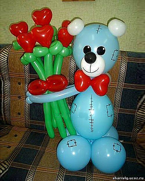 Мишка Тедди из воздушных шаров