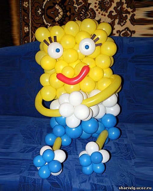 Губка Боб (Спанч Боб) из воздушных шаров