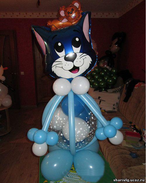 Кот Том из воздушных шаров