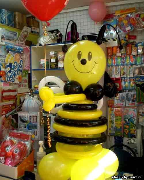 Пчёлка из воздушных шаров