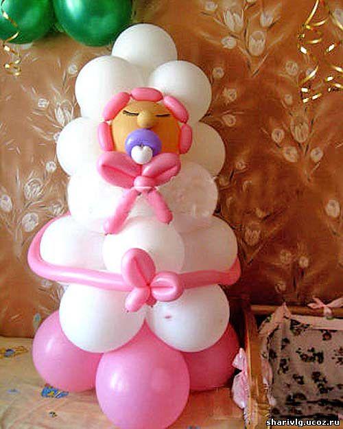 Фигура из воздушных шаров - Младенец