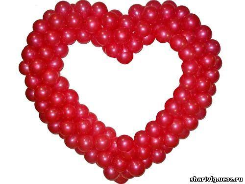 Сердце из воздушных шаров 1