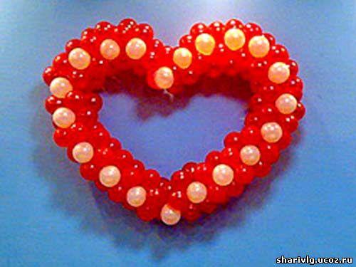 Сердце из воздушных шаров 2