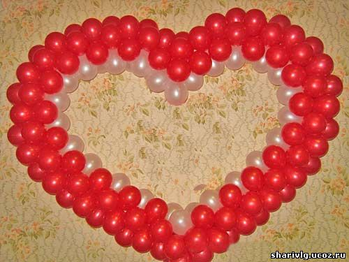 Сердце из воздушных шаров 3
