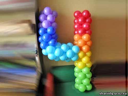 4 из шаров своими руками