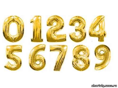 Фольгированный шар-цифра