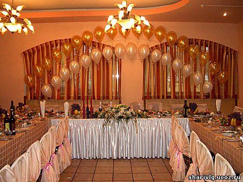 Оформление зала - Двойная арка из воздушных шаров