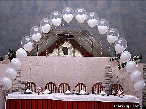 Арка из воздушных шаров – Шар в шаре